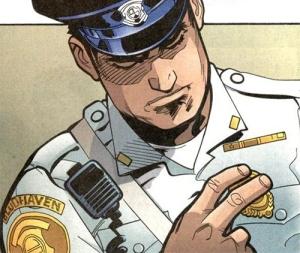 Dick Grayson como policial de Blüdhaven